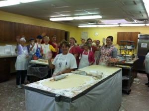 members from First United Methodist Church who make the Pigs-in-a-blanket every year